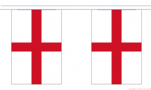 ENGLAND ST GEORGE BUNTING - 9 METRES 30 FLAGS